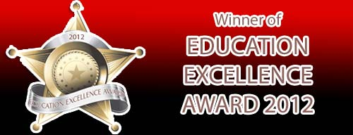 Winner of Education Excellence Award 2012